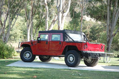 wielki czerwony samochód Zdjęcie Stock