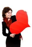 wielki czerwony z serca Obraz Stock