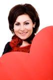 wielki czerwony z serca Zdjęcia Stock