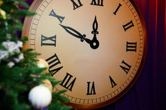 Wielki dekoracyjny zegar Obrazy Royalty Free