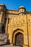 Wielki drewniany bramy Amer fort Zdjęcie Stock