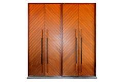 2 wielki drewniany drzwi Fotografia Stock