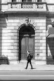Wielki drewniany drzwiowy wejście Zdjęcie Royalty Free