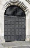 Wielki Drewniany Forteczny drzwi Obrazy Stock