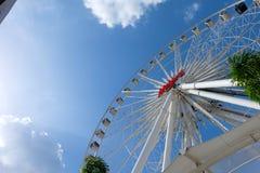 Wielki Ferris kół nieba tło Obrazy Royalty Free