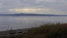 Wielki ferryboat w odległości zdjęcie wideo