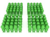 Wielki grupa ludzi stojak na bielu ilustracja wektor