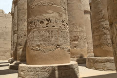 Wielki hipostyl Hall świątynia Karnak Luxor egiptu Zdjęcia Royalty Free