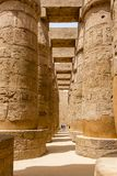 Wielki hipostyl Hall Świątynny Karnak, Luxor, Egipt obraz stock