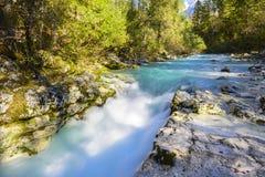 Wielki jar Soca rzeka, Slovenia Zdjęcie Royalty Free