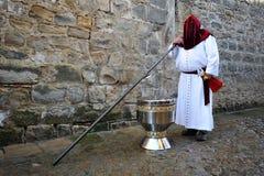 Wielki kadzidłowy palnik, Święty tydzień w Baeza, Jaen prowincja, Andalusia, Hiszpania Zdjęcie Royalty Free