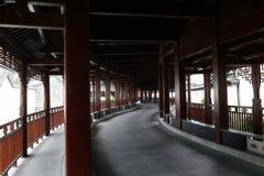 Wielki korytarz budujący z drewna Zdjęcia Stock