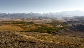 Wielki krajobraz Altay góry i Kurai step obrazy royalty free