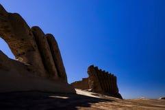 Wielki Kyz Qala lub Kiz Kala Maiden's kasztel, Maryjna prowincja, Turkmenistan obrazy stock