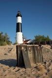 wielki latarnia morska punktu sobole Obraz Stock