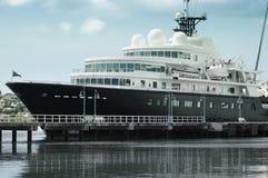 wielki luksusowy jacht Obrazy Royalty Free
