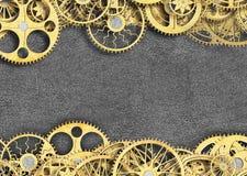 Wielki mechanizm, set przekładni kół tło, 3d, illustrati Obrazy Royalty Free