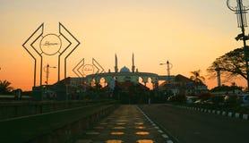 Wielki meczet Środkowy Jawa zdjęcia royalty free