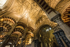 Wielki meczet cordoba, Andalusia, Hiszpania Zdjęcia Stock