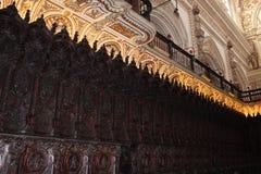 Wielki meczetu lub Mezquita sławny wnętrze w cordobie, Hiszpania zdjęcia royalty free
