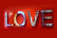Wielki miłość pokazu znak Obrazy Royalty Free
