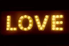 Wielki miłość pokazu znak Zdjęcia Royalty Free