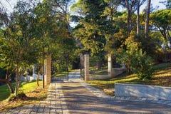 Wielki miasteczko park Tivat miasto, Montenegro Obraz Stock