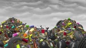 Wielki Śmieciarski usyp, 3d ilustracja Zdjęcia Stock