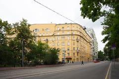 Wielki mieszkanie dom w Moskwa 17 07 2017 Obraz Royalty Free