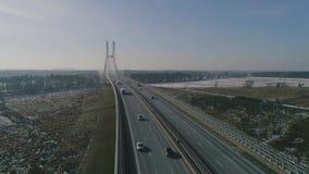 Wielki most w świacie, widok z lotu ptaka zdjęcie wideo