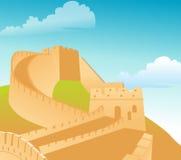 wielki mur ilustracji