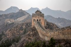 Wielki mur Chiny, Jinshanlin sekcja zdjęcia stock