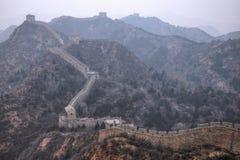 Wielki mur Chiny, Jinshanlin sekcja obrazy stock
