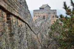 Wielki mur Chiny, Jinshanlin sekcja obrazy royalty free