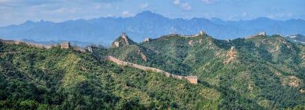 Wielki mur Chiny, Jinshanlin sekcja zdjęcie stock