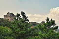 Wielki mur Chiny, Jinshanlin sekcja zdjęcie royalty free