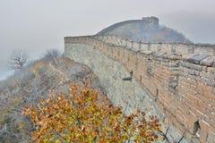 Wielki mur Chiny Mutianyu Chiny Obraz Royalty Free