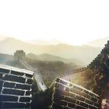 Wielki Mur historii starożytnej punktu zwrotnego podróży Porcelanowy pojęcie Zdjęcie Stock