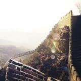 Wielki Mur historii starożytnej punktu zwrotnego podróży Porcelanowy pojęcie Zdjęcia Royalty Free