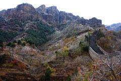 Wielki mur jesień Zdjęcie Stock