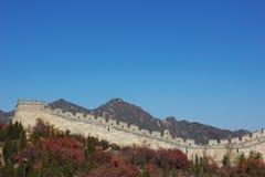 wielki mur pod niebieskim niebem Obraz Stock