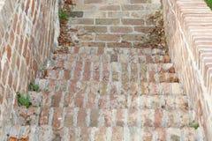 Wielki Mur starych cegieł ośniedziały rocznik Zdjęcie Stock