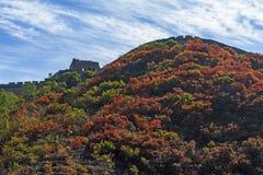 Wielki Mur w jesieni Zdjęcia Royalty Free