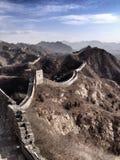 Wielki Mur wi się przez wzgórza Zdjęcie Stock