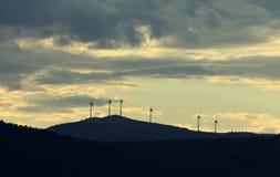 wielki niebieski chmura wschodu brzegowego farmy Północnej nieba pogody biały miły wiatr Obraz Royalty Free