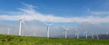 wielki niebieski chmura wschodu brzegowego farmy Północnej nieba pogody biały miły wiatr Obrazy Royalty Free