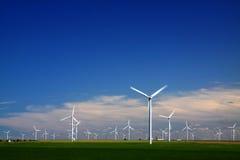 wielki niebieski chmura wschodu brzegowego farmy Północnej nieba pogody biały miły wiatr Obraz Stock