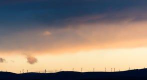 wielki niebieski chmura wschodu brzegowego farmy Północnej nieba pogody biały miły wiatr Fotografia Stock