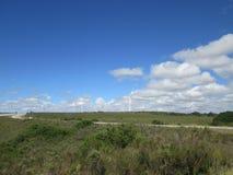 wielki niebieski chmura wschodu brzegowego farmy Północnej nieba pogody biały miły wiatr Obrazy Stock