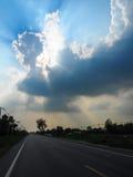 Wielki niebo na wycieczce samochodowej Obraz Stock